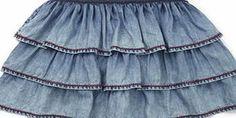 Bhs Girls Girls Tencel Denim Skirt, multi 9268279530 This girls denim skirt has three tiers of pretty frills and an elasticated waistband for added comfort.100% ViscoseMachine Washable http://www.comparestoreprices.co.uk/kids-clothes--girls/bhs-girls-girls-tencel-denim-skirt-multi-9268279530.asp