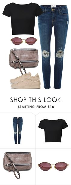 """""""Untitled #2975"""" by hankristina ❤ liked on Polyvore featuring Frame, Lipsy, Givenchy, Christian Dior and adidas"""