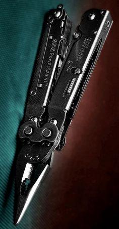 SOG PowerAssist EDC Multi-Tool S66N-CP - 16 Tools, Satin Polsihed, Nylon Sheath, Assisted 2.75 Blade, Compound Leverage @aegisgears