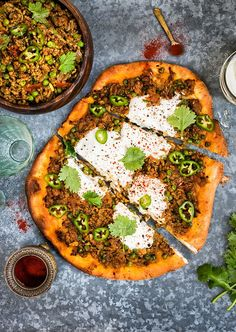 {Indian} Spicy lamb keema makes a perfect topping for pizza | Supergolden Bakes