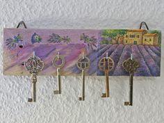 Schlüsselbrett, Holz, Hakenleiste, Hakenbrett,  von Schlueter-Home-Design auf DaWanda.com