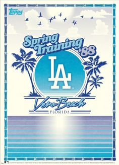"""Topps has just released a Retro Spring Training 10"""" x 14"""" print available directly from them online."""