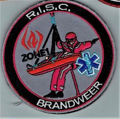 R.I.S.C. Zone 1 Brandweer Fire Dept, Fire Department, Embroidered Badges, Ems, Patches, Logos, A Logo, Emergency Medicine, Firemen