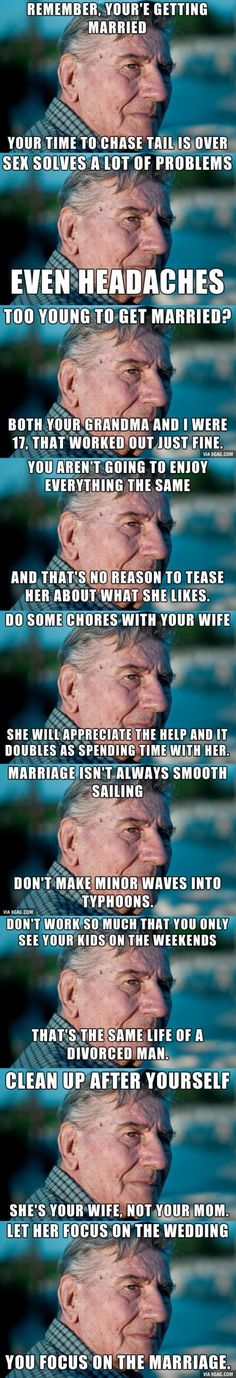 Old Man. Marriage Advice