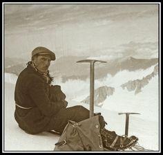 Léon Orset, sommet Nord de l'aiguille de Tré-La-Tête, Mont-Blanc - 1936 by Yannick Michel, via Flickr