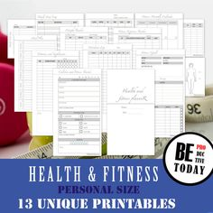Finance planner printable expense tracker budget planner monthly personal inserts health and fitness planner bundle health and fitness journal food diary malvernweather Image collections