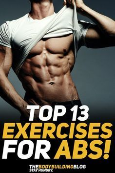Check out The Top 13 Exercise For Shredded Abs! #fitness #gym #exercise #exercises #workout