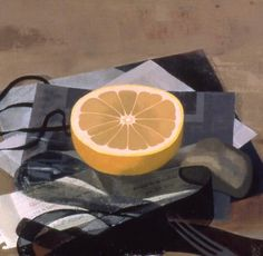 Susan Jane Walp oil on linen - Grapefruit with black ribbons. Good example of focal point.