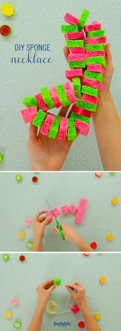 This DIY Sponge Necklace is just the trick to keep cool during the hot summer days. You only need a few supplies to make this easy and fun necklace. Your little ones will truly be the coolest kids on the block.