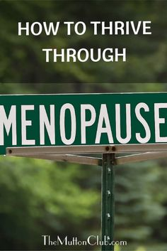 Menopause is just another of life's stages. And we're lucky if we get that far! Here are easy strategies on how to thrive through menopause.