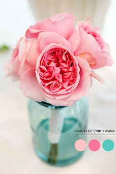 Read more Mint peach pink wedding colors palette, http://www.fabmood.com/mint-peach-pink-wedding-colors-palette/ aqua and pink wedding colors