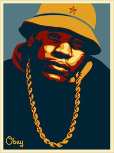 LL Cool J Blue - by Shephard Fairey