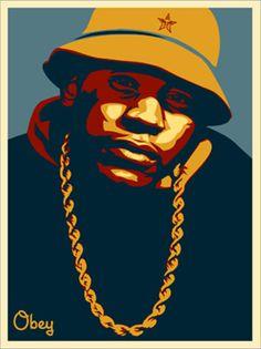 LL Cool J Blue - by Shephard Fairey