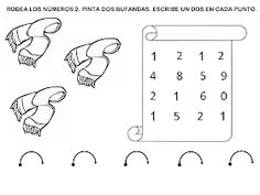 RECURSOS EDUCACIÓN INFANTIL: NÚMERO 2 Math Equations, Preschool Math Activities, Note Cards
