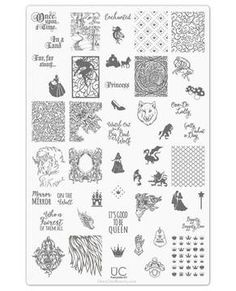 Fairytale-01 - UberChic Nail Stamping Plate