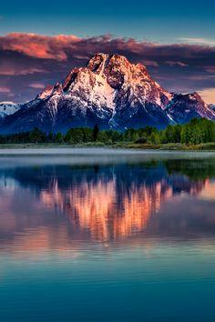 Mount Moran Sunrise by bern.harrison on Flickr.