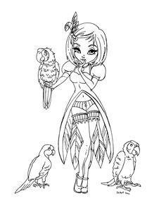 Parrots by *JadeDragonne on deviantART
