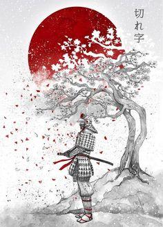 """Cutting Word"" metal poster by Marine Loup #samurai"