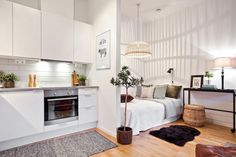 Simple and creative small apartment decorating ideas on a budget (16)