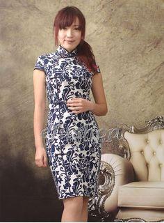 Cotton Cheongsam SCO66 - Custom-made Cheongsam,Chinese clothes, Qipao, Chinese Dresses, chinese clothing,EFU Tailor Shop