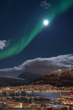 Aurora Borealis over Tromsø, Northern Norway 19th of February 2016