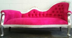 Hollywood Regency Pink Chaise. #nyc #decor