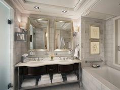 salle de bain de design rétro