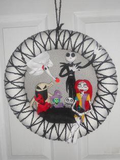 Nightmare Before Christmas wreath | I lIke this | Pinterest ...