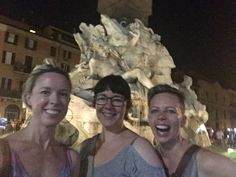 Missing the beautiful, if swelteringly hot, Rome! We did it, ladies! @CatrinAaron @raecbw #venividivici #selfie