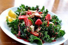 FP Kale Berry Salad with Raspberry Vinaigrette.