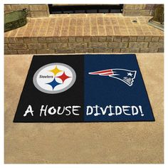 """NFL Pittsburgh Steelers/New England Patriots House Divided Rug 33.75""""x42.5"""""""