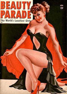 PETER DRIBEN - art for April 1948 Beauty Parade