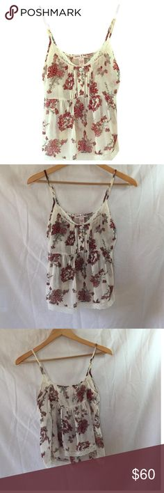 BOHO LOTTIE & HOLLY TOP NWOTAdjustable straps. VERY ROMANTIC VIBE. Like new condition. GET 30% off when you buy 3 or more items @degotto.  pair of earrings with every bundle purchase. Ship Daily. Lottie & Holly Tops Camisoles