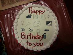 Birthday cake for my photography-savvy husband Happy 8th Birthday, Birthday Cake, Husband, Desserts, Photography, Food, Tailgate Desserts, Deserts, Photograph