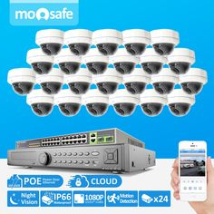 2997.55$  Buy now - http://ali409.worldwells.pw/go.php?t=32463201628 - 24CH 2MP 1920*1080P POE Power Over Ethernet ONVIF Outdoor IR Night Vision P2P Bullet Home Security Camera System With 9TB HDD