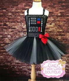 Darth Vador Inspired Tutu Dress. Star Wars Tutu Dress. Party Dress. Comic Con. Halloween. by LisasTutus on Etsy