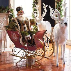 Mark Roberts Santa on the Town Figure Christmas Decals, Christmas Diy, Merry Christmas, Christmas Ornaments, Xmas, Christmas Figurines, Elegant Christmas, Victorian Christmas, Father Christmas