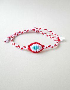 March bracelet Martis Cotton evil eye Martisor Martenitsa