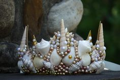 Mermaid crown, mermaid tiara, seashell crown, seashell tiara, ocean theme hair accessories, mermaid photo prop, Sea queen crown, by TheMuseCreations on Etsy https://www.etsy.com/listing/291086011/mermaid-crown-mermaid-tiara-seashell
