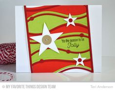Trim the Tree, Snow Drifts Cover-Up Die-namics, Stitched Star STAX Die-namics, Sequins Die-namics, Vintage Buttons Die-namics - Teri Anderson   #mftstamps
