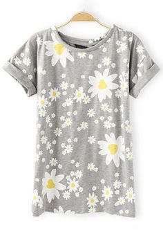 Daisy Short Sleeve Tee - OASAP.com << Such a cute shirt! Pair with frayed cut off denim shorts and white leather sandals or brown leather gladiators or sandals