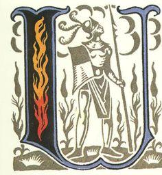 グリム童話:六羽の白鳥 装飾文字 Grimm's Fairy Tales:Six Swans / Letters