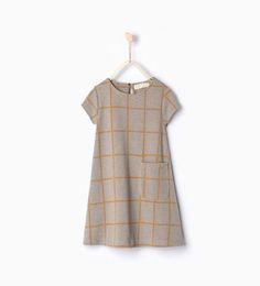 Vestido quadrados da Zara
