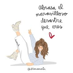 Spanish Words, Spanish Quotes, Me Quotes, Motivational Quotes, Woman Quotes, Girls Diary, Happy Wishes, Inspirational Phrases, Sweet Words