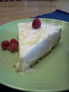 Skinny Sweets Daily: Light Lemonade Ice Cream Pie. A tastes of summer all year round. Enjoy! Click pic for easy recipe.
