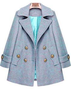 Shop Blue Lapel Long Sleeve Buttons Woolen Coat online. Sheinside offers Blue Lapel Long Sleeve Buttons Woolen Coat & more to fit your fashionable needs. Free Shipping Worldwide!