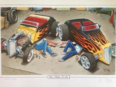 George Trosley and Cartoon Magizine Cartoon Pics, Cartoon Art, Cars Cartoon, Car Drawings, Cartoon Drawings, Arnold Cartoon, Cartoons Magazine, Bike Illustration, Truck Art