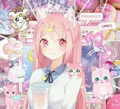 anime and pink image Yandere Anime, Chica Anime Manga, Anime Neko, Kawaii Anime Girl, Girls Anime, Manga Girl, Anime Art Girl, Japon Illustration, Anime Version