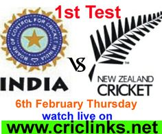 6th February Thursday.1st Test between India vs New zealand will be played at Auckland...Match will be start at 4.00 AM PST 4.30 am ist,,,watch live action only on http://criclinks.net/ #IndvsNz