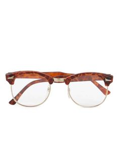 HINDSIGHT VINTAGE Half Frame Tortoiseshell Glasses* - Men's Sunglasses - Shoes and Accessories - TOPMAN